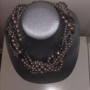 Ann Taylor Loft multi strand beaded necklace NWOT